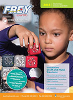 Cover to 2018 Frey Scientific Elementary Catalog