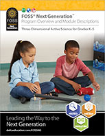 Cover to FOSS Next Generation Elementary Brochure
