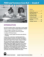 Page 1 of Grade K CCSS-ELA document