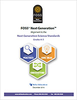 Cover to FOSSNG Correlation to NGSS - Grades K-5 document