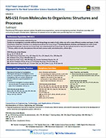 Cover to NGSS Overview Correlation document