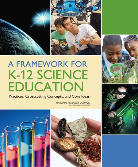 Cover for the book, A Framework for K-12 Science Education