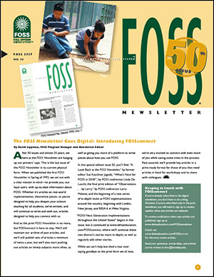 FOSS Newsletter issue 50, Fall 2017