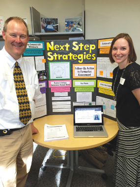 RAES teachers Chad Hipp en and Bethany Bombei focus on next-step strategies.