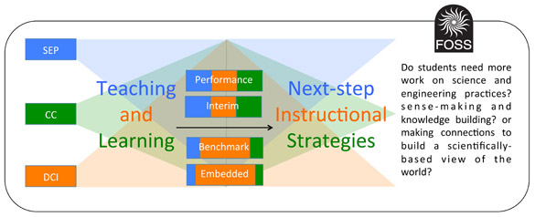 A model for teaching and learning using the FOSS assessment system.