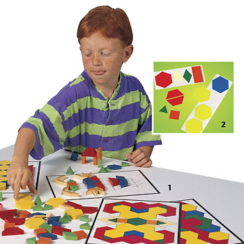 Foam Pattern Blocks - 250 Blocks