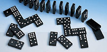 Math Resources Computation & Estimation Double 6 Black and White Dominoes