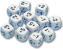 Positive and Negative Number Dice