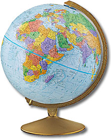 "Earth Science Geography & Landforms Earth Globe (12"")"