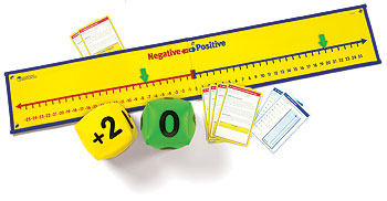 Positive and Negative Number Line Activity Set