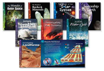 All About Earth and Space Science Library (8 books, one of each title)
