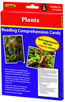 Reading Comprehension Science Cards, Plants (Set of 32)