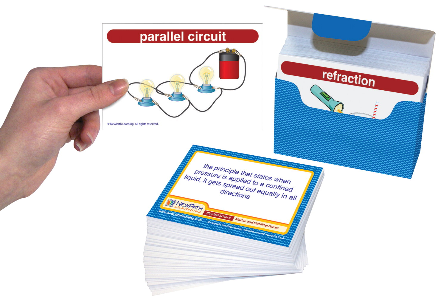 NewPath Learning Physical Science Vocabulary Builder, Set of 200