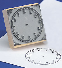 Clock Stamps - Large Stamp