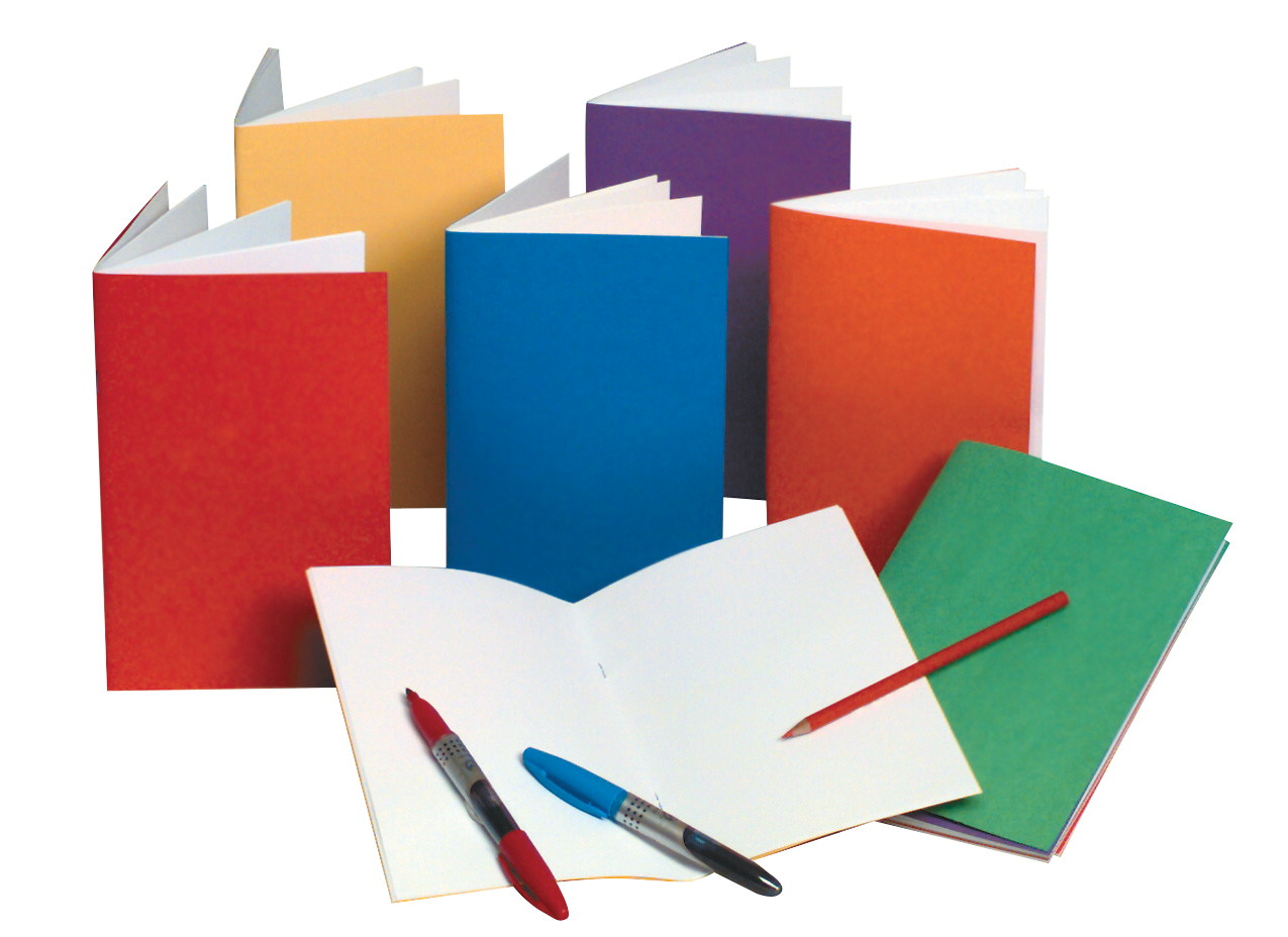 Hygloss Rainbow Bright Blank Book, 5-1/2 X 8-1/2 in, 32 Sheets, Assorted Color, Pack of 12