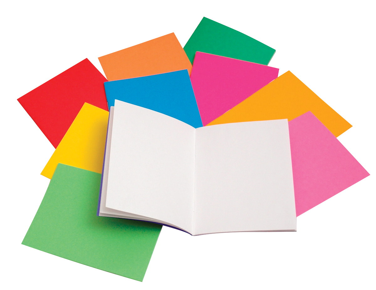 Hygloss Rainbow Bright Blank Book, 4-1/4 X 5-1/2 in, Assorted Color, Pack of 10