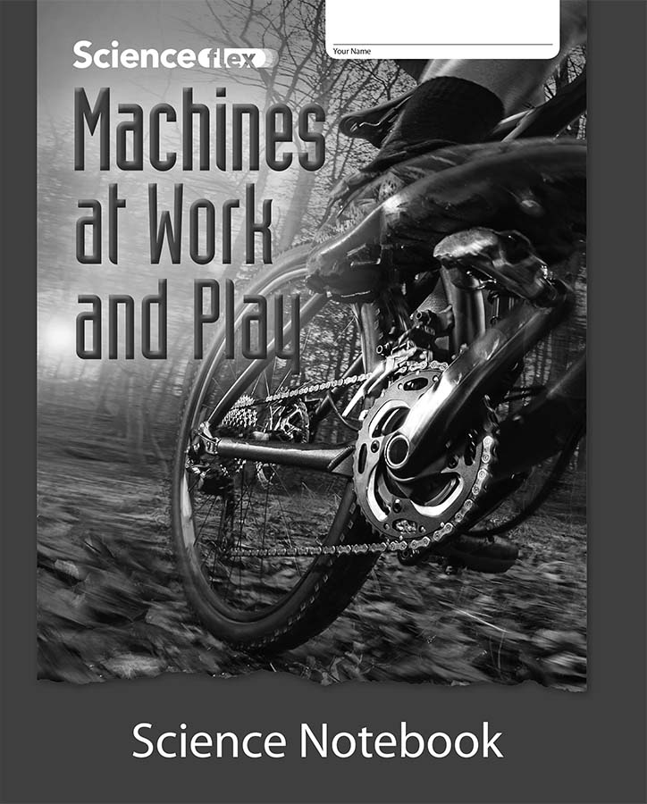 Machines at Work and Play Science Notebook, Pack of 4