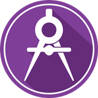 Engineering icon on a purple background