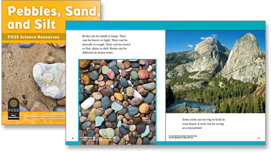 Sample page from the Pebbles, Sand, and Silt Science Resource Book